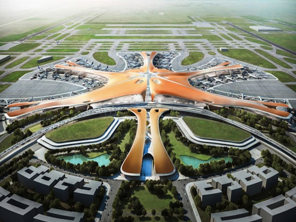 Artist's rendition of the Beijing New Airport Terminal building