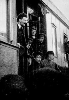 Leon Trotsky arriving in Petrograd on May, 1917