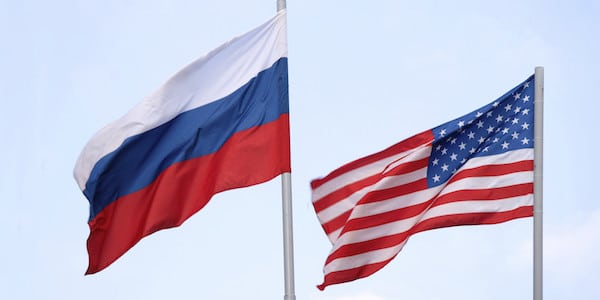 America Russia flag.