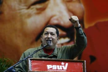 Hugo Chávez speaking. (Photo credit: Ique Comunismo)