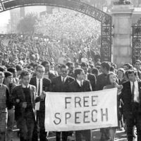 Berkeley free speech movement in 1964 PHOTO: Chris Kjobech