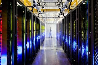 Google's campus-network room at their data center in Council Bluffs, Iowa. (Photo: Connie Zhou/AP)