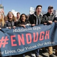 Student marchers #ENOUGH