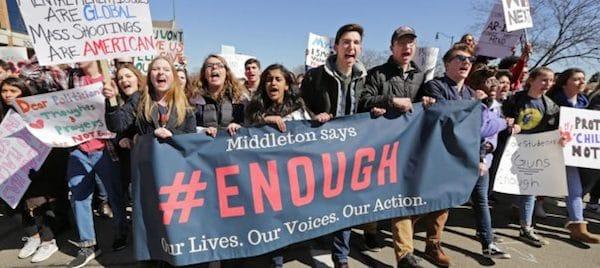 Student marchers #ENOUGH