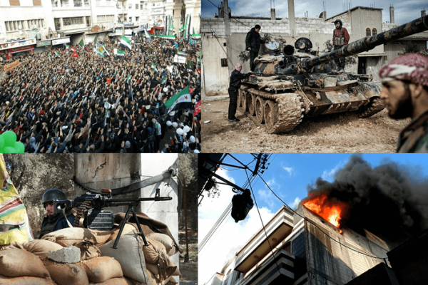 Syrian Civil War collage