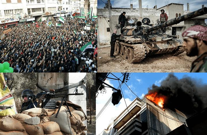 | Syrian Civil War collage | MR Online