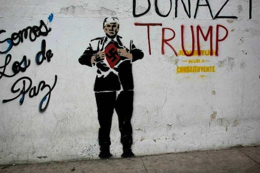 Trump graffiti