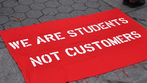 We are students not customers