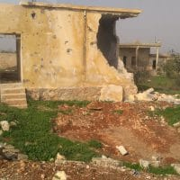 Destroyed building in a villiage in Northern Aleppo that was formerly occupied by ISIS and Al Nusra