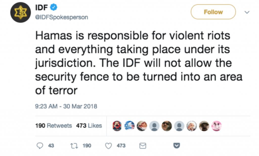 | IDF tweet | MR Online