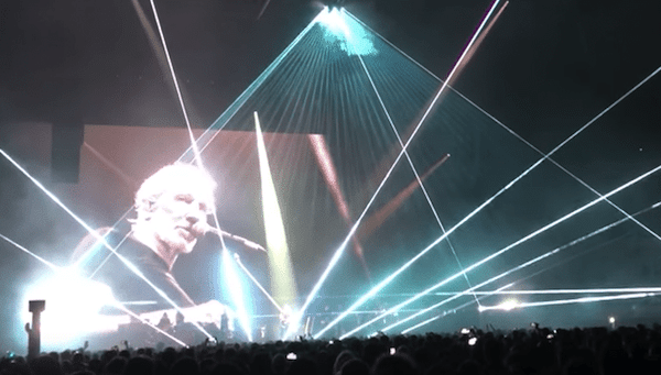 Roger Waters on stage in Barcelona, April 13, 2018