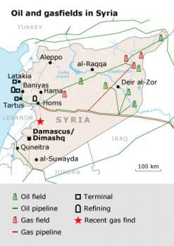 Syria Oil and Gas Map