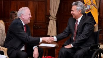 Thomas Shannon and Lenin Moreno