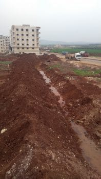 Trenches on the borders of Afrin