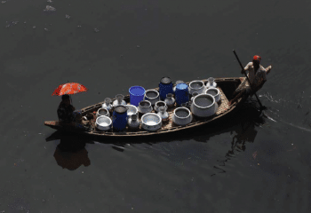 Water delivered by boat