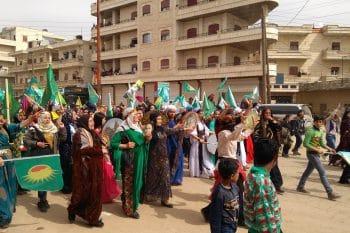 Women's demonstration in Afrin