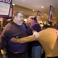 Service Employees Dispute with California Nurses Turns Violent at Labor Notes Conference, April 12, 2008
