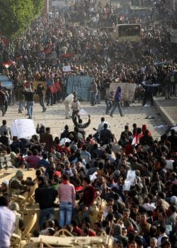 | A standoff between anti and progovernment demonstrators | MR Online