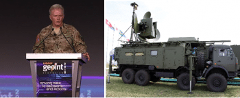 Left: General Raymond Thomas speaking at GEOPOINT 2018, which took place between April 22 and 25. Listen to his speech and read the DRIVE report of April 25