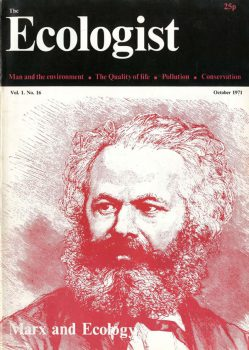 Karl Marx featured on the front of a 1971 edition of The Ecologist
