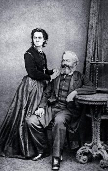 Karl Marx and his daughter Jenny, 1869