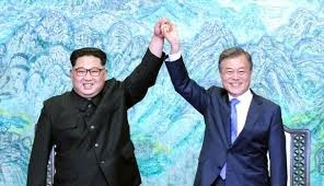 Kim Jung Un and Moon Jae-in at the Korean summit
