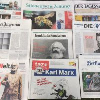 Marx in newspapers