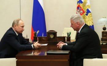President Putin with Mikhail Shmakov