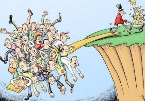 Rich get richer and poor get poorer