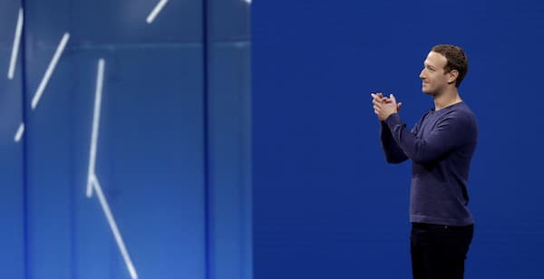 Facebook CEO Mark Zuckerberg makes the keynote speech at the F8 conference Tuesday, May 1, 2018, in San Jose, Calif. (AP Photo/Marcio Jose Sanchez)