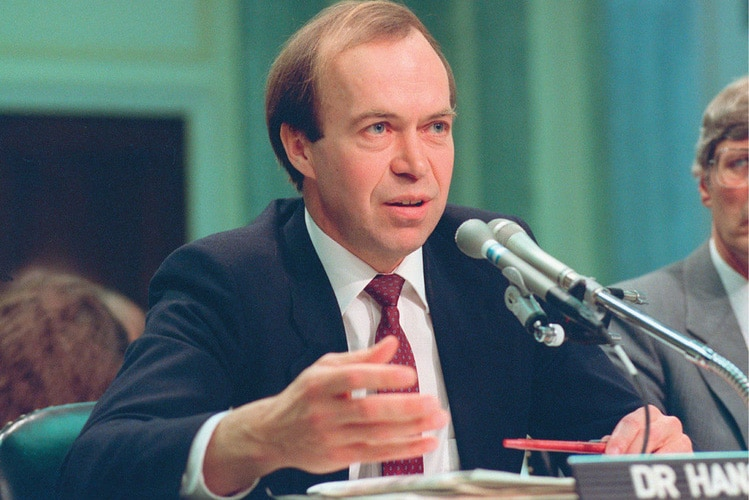 | Dr James Hansen before congress in 1988 | MR Online