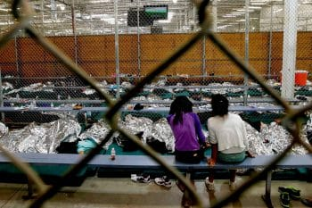 | A holding area for mostly Central American immigrant children at the US Customs and Border Protection Placement Center in Nogales Ariz July 17 2014 Ross D Franklin | AP | MR Online