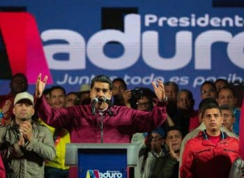 Maduro giving his victory speech in Miraflores palace (Photo: Prensa Presidencial)