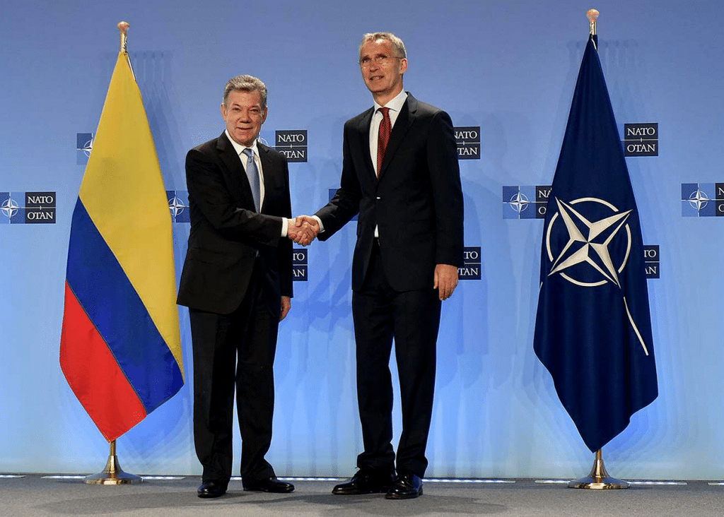   Secretary General Jens Stoltenberg hosted President Juan Manuel Santos of Colombia at NATO headquarters on May 31 Colombia has now become NATOs first member in Latin America   NATO   MR Online