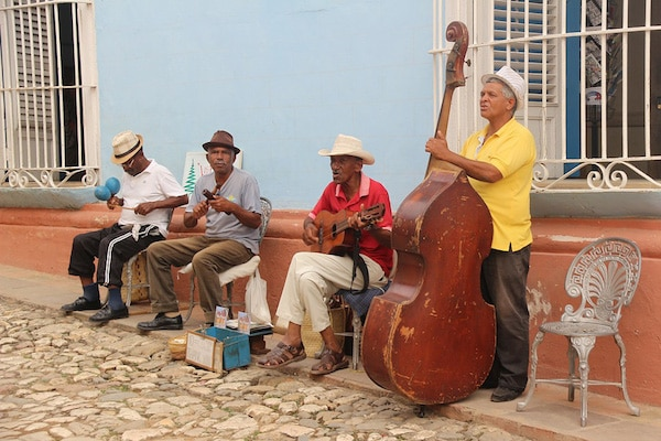 A Salsa band playing on the street in Trinidad, Cuba. Image: Pixabay