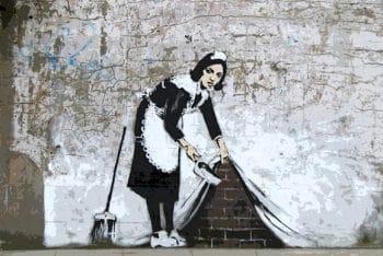 Banksy: Photo cred (www.thebinarybox.co.uk)