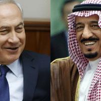 Israel's Benjamin Netanyahu and Saudi Arabia's King Salman