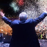 AMLO celebrates the electoral triumph before thousands gathered in the central square of Mexico City last Sunday Image From CNN