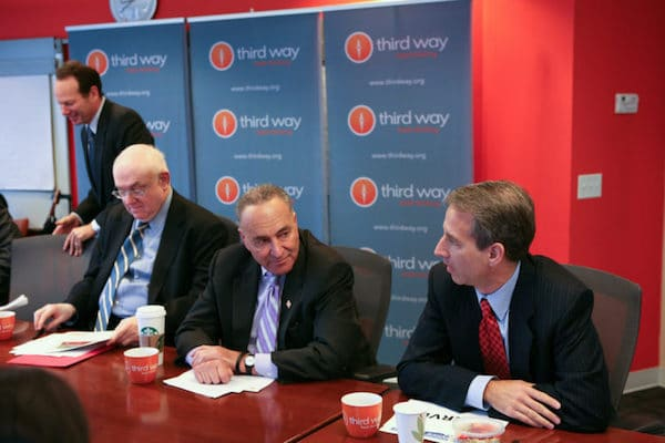 Democratic Senator Chuck Schumer at the Inside Politics Press Breakfast in 2011, hosted by Third Way. Photo via Third Way on Flickr.