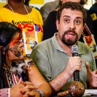 Guilherme Boulos at the electoral conference of the Socialism and Freedom Party (PSOL) on March 10, 2018