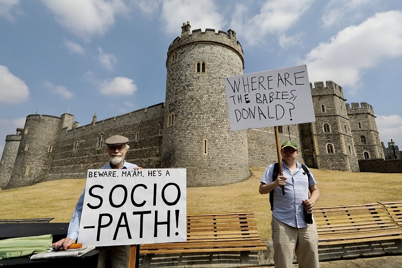 Protest at Windsor Castle