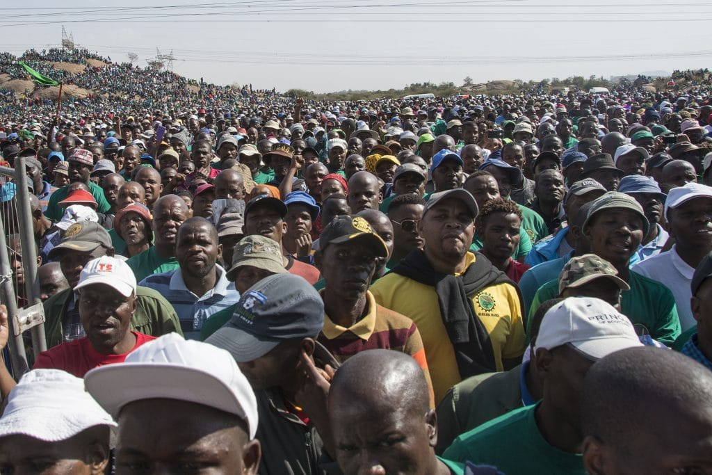 | A huge crowd gathers to commemorate the Marikana massacre of August 16 2012 | MR Online