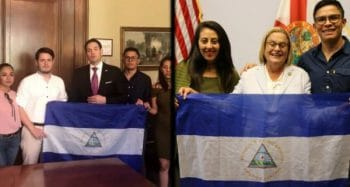 Nicaraguan students meet with right-wing Republicans, Sen. Marco Rubio and Rep. Ileana Ros Lehtinen in Washington, DC. Source Twitter Truthdig.