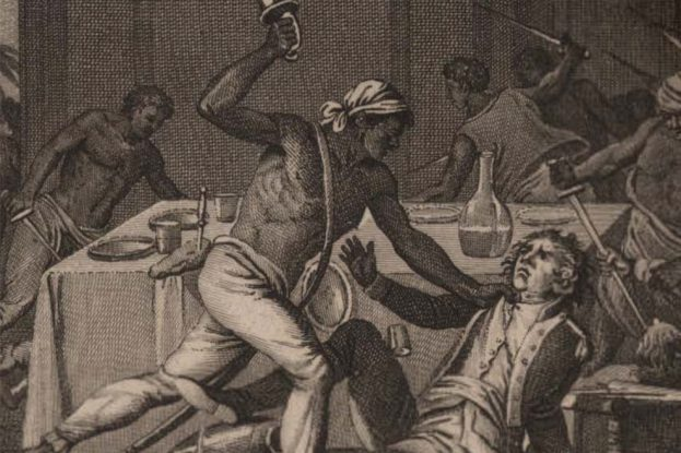 From the cover image of Gerald Horne's, The Counter-Revolution of 1776 (NYU Press, 2014)