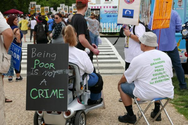Thousands of people from all over America gathered on the Mall for a Rally and March to The Capitol as part of the The Poor People's Campaign Moral Revival in Washington DC, June 23, 2018