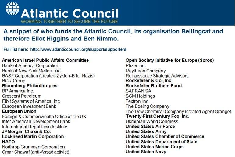 Who funds the Atlantic Council