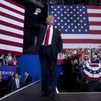 Donald Trump at a rally in May in Nashville, Tenn. (Andrew Harnik : AP)