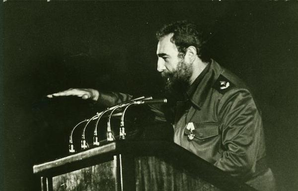 Fidel during the inauguration of Ameijeiras Hospital, December 3, 1982. Photo- Jorge Oller