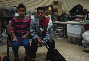 Detained migrant family