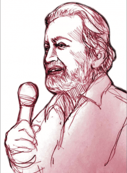 Drawing of Prabhat Patnaik
